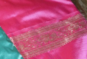 Saree cushion detail