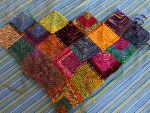Sock Yarn Blanket