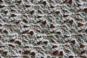 Lacy detail of the crochet summer cardigan