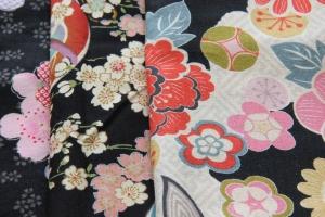 Black Japanese Floral Fabrics
