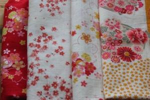 Colourful Japanese Floral Fabrics