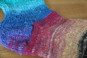 A Sock from Noro Kyreyon yarn