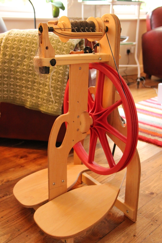 My new Schacht Ladybug spinning wheel