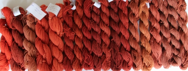 Madder dyeing results