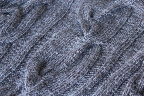 a cable detail in the Drifter jumper