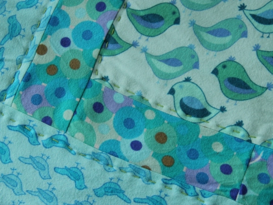 Patchwork Baby Quilt, a detail