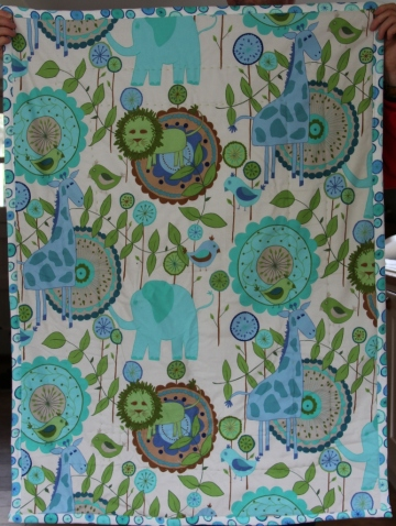 Patchwork Baby Quilt, reverse side