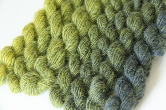 Green yarns