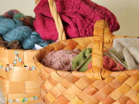 My Knitting Baskets