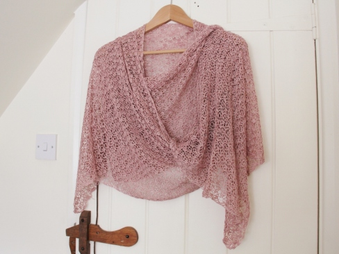 Crocus Bud shawl in silk