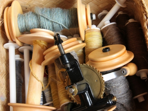 A basket of bobbins