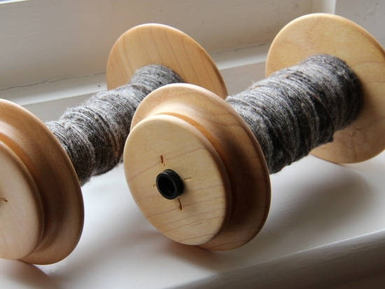 Grey Shetland wool