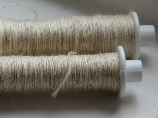 My first silk spinning experiment using Tussah silk top. I need to ply this into both 2-ply and 3-ply yarn and knit some samples.