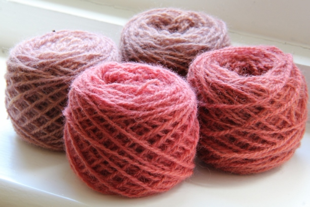 yarn dyed with cortinarious semisanguineus (