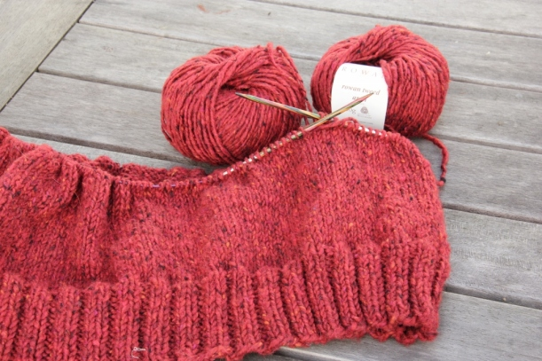 Red Tweed jumper